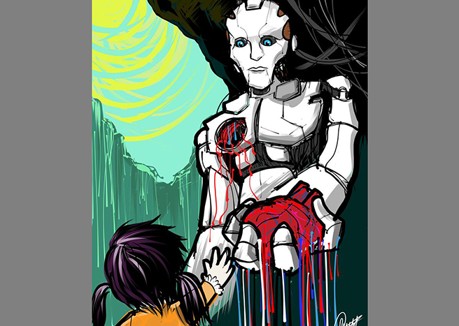 robot heart Illustrated with XStylus Touch on iPad   True love comes from deep within by Liwen Chony