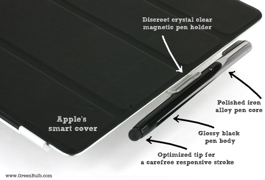 XStylus Touch on iPad 2 (with Smart Cover)